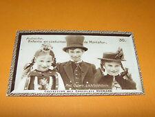 CHROMO PHOTO CHOCOLAT SUCHARD 1934 EUROPE ÖSTERREICH AUTRICHE COSTUMES MONTAFON