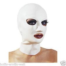 Weiße Latex Maske - Bondage SM Artikel Sexshop Erotikshop Fetisch