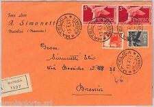 57135 - REPUBBLICA - STORIA POSTALE: ESPRESSI su BUSTA RACCOMANDATA 1947