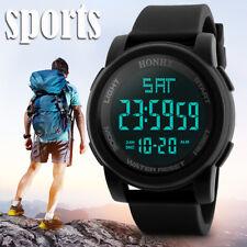 Fashion Men's LED Waterproof Digital Quartz Military Watch Sport Date Watches P