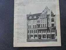 1904 Baugewerkszeitung 41   Haus Porcher Hannover Brückenstraße / Bauer Hamburg