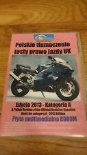 Testy na prawo jazdy w uk - kategoria A edycja 2013 polska wersja