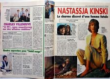 NASTASSJA KINSKI => 2  pages 1990  FRENCH CLIPPING // Coupure de presse