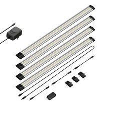 LED Unterbau-Leuchte Siris, Infrarot-Sensor, flach, je 50cm, 400lm, warm-weiß, 4
