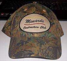 Menards Contractors Club Camo Adjustable Basball Hat CAP NEW