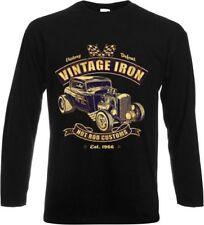 Vintage Langarm Herren-T-Shirts aus Baumwolle