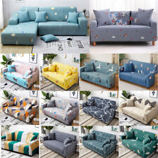 1/2/3/4 Seats Printing Elastic Full Cover Slipcover Fabric Sofa Cover Cushion