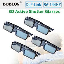4Pcs USB Rechargeable 3D Active Shutter Glasses Kits For DLP-Link 3D Projectors