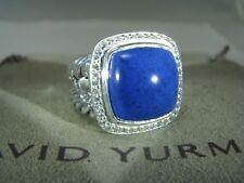 DAVID YURMAN AUTHENTIC ALBION 14MM LAPIS PAVE DIAMOND RING SIZE 7  D.Y. POUCH