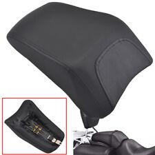 Rear Black Passenger Seat Pad with Bracket For Harley FLSTF Fatboy 2008-2014