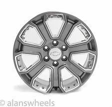 "4 NEW Chevy Silverado Avalanche Gun Metal Chrome inserts 20"" Wheels Rims 5660"