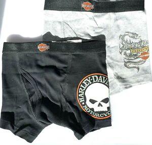 Harley Davidson® Boys 2 pairs brief boxers Underwear