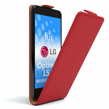 Tasche f. LG Optimus L5 II - E450 / E455 / E460 Flipcase Schutzhülle Etui Rot