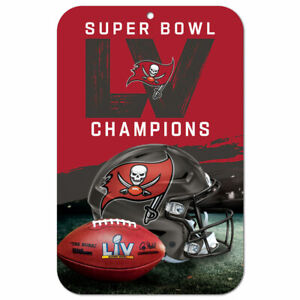 """TAMPA BAY BUCCANEERS SUPER BOWL CHAMPION 11""""X17"""" PLASTIC SIGN DURABLE POSTER NFL"""