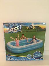 "H2OGO! 8'7"" x 69"" x 20"" Blue Rectangular Inflatable Family Pool"