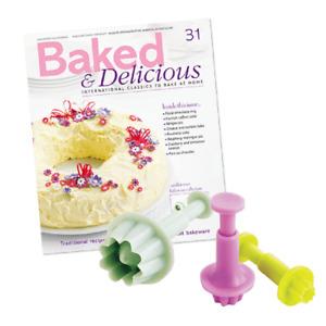 3 Set Flower Plunger Cutter Sugarcraft Fondant Icing Cake Decorating Mould Mold
