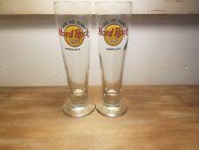 Hard Rock Cafe Honolulu Pilsner Beer Glasses