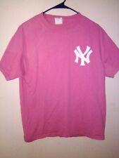 Derek Jeter New York Yankees VINTAGE Majestic MLB Shirt PINK