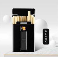Metal Cigarette Case Holder Portable Electronic Lighter Usb Charging Waterproof