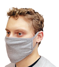 Face Mask Grey Protective Breathable Cotton Washable Reusable Cover UK