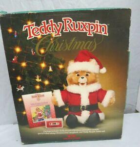 Teddy Ruxpin Christmas Book, Tape, Complete Santa Outfit Original Box