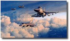 Viper Venom by Robert Taylor - F-16 Viper - Two Pilot Signatures - Bosnia 6/1999