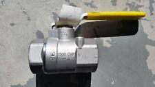 "APOLLO 1-1/4"" STAINLESS STEEL BALL VALVE 76F-106-01  CF8M FNPT  W/Mounting Pad"