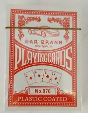 2 DECKS RED PLAYING CARDS CAR BRAND PLASTIC COATED NO 976 POKER