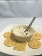 Realistic Vegetable Dip Display Prop Fake with crackers on Plate. Rare