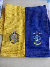 Harry Potter Hogwarts Coloured House Tea Towel Pack Of 2 Hufflepuff Ravenclaw
