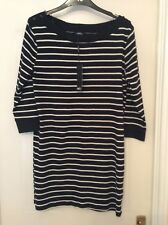 New With Tags, M&Co Black & White Stripe Tunic Top - Size 14