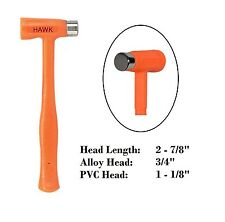 "HAWK PH214S | 12 oz Dead Blow Forming Hammer 3/4"" Steel Alloy 1 - 1/8"" PVC Head"
