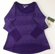 $74 Tasc Performance Womens Size Small Top Bywater High Low Pullover Sweater H8