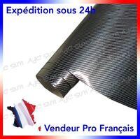 Film Vinyle 4D Carbone 152 X 20 Cm Noire adhésif thermoformable autocollant