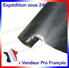 Film Vinyle 4D Carbone 152 X 40 Cm Noire adhésif thermoformable autocollant