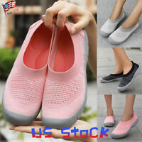 Women's Casual Shoes Fly Weave Flat Loafers Breathable Sports Comfort Jogger US