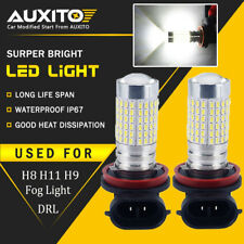 AUXITO 2X 144-SMD H11 H8 H9 LED Bulbs Fog Lights DRL Lamps Xenon White US EA