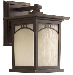 Residence Collection 1-Light Antique Bronze 9.25 in. Outdoor Wall Lantern Sconce