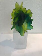 DAUM Pate De Verre Art Glass Crystal Perfume Bottle Flight Of Butterflies