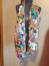 "Women's Butterfly Fashion Scarf Light Weight 39 3/4"" X 60"""