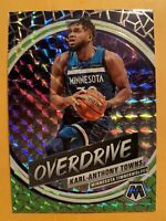2019-20 Panini Mosaic Karl-Anthony Towns Overdrive Silver Wave Prizms SSP #6
