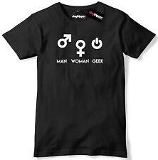 Man Woman Geek Symbols Mens Premium T-Shirt Slogan Tee