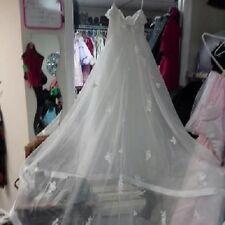 Wedding gown size 8 long bridal train crinolyn ladies dress tiara veil $2500