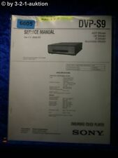 Sony Service Manual DVP S9 DVD Video CD Player (#6605)