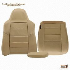 2005 Ford Excursion Limited Lean Back & bottom & armrest LEATHER Seat Cover Tan