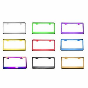 Customize Personalized Laser Engraved T304 Stainless Steel License Plate Frame