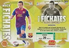 N°496 ALEXIS SANCHEZ CHILE FC.BARCELONA ARSENAL MEGACRACKS CARD PANINI LIGA 2012