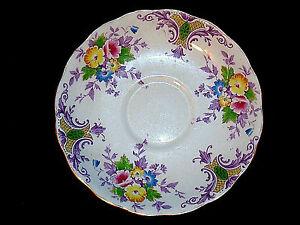 Colclough Bone China Floral Saucer Plate Longton England Table Replacement Part