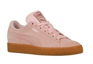 Puma Dusty Pink Suede Gum Sole Classic Embossed Foil Shoes NEW Unisex Sizes DISC