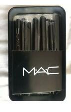 Travel Size MAC Makeup Brush Set & MAC MAKE UP BAG inc Mirror and handle